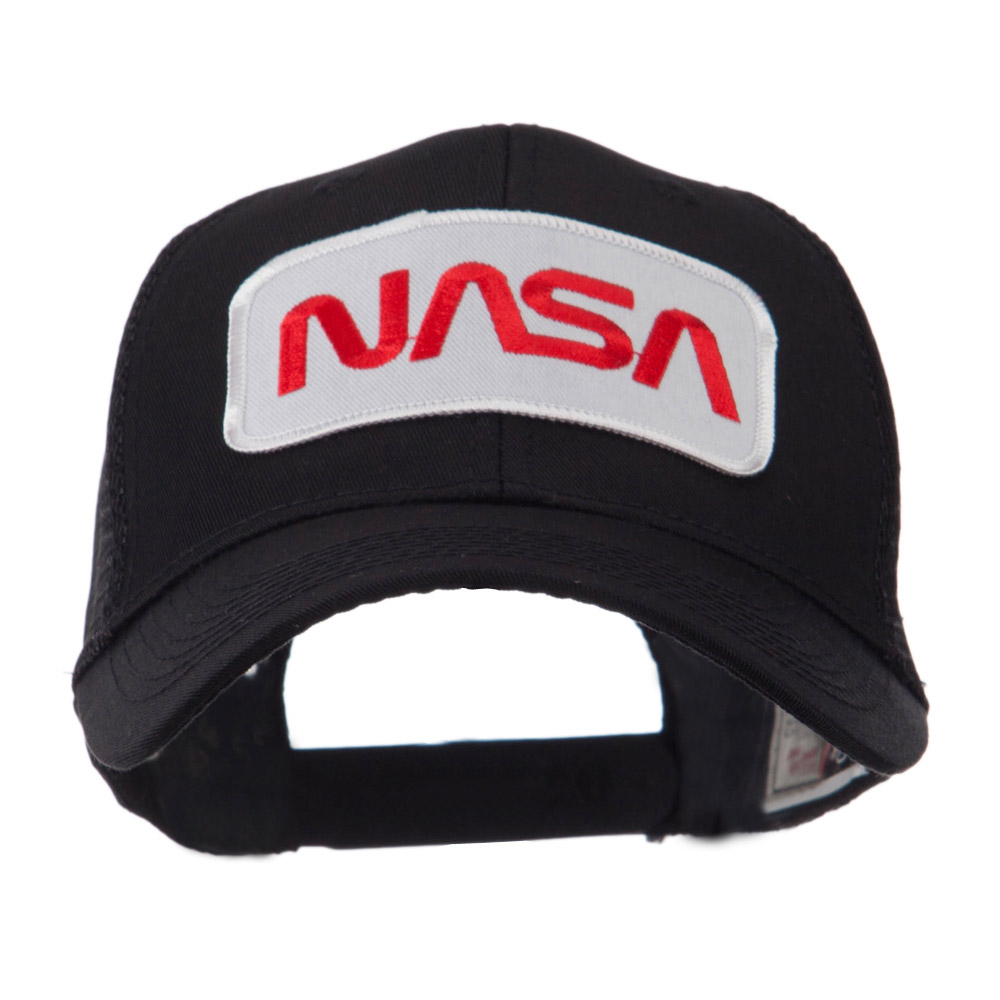 Text Law and Forces Embroidered Patched Mesh Cap - NASA 2