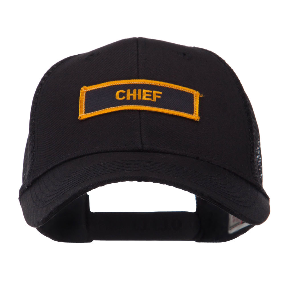 Text Law and Forces Embroidered Patched Mesh Cap - Chief