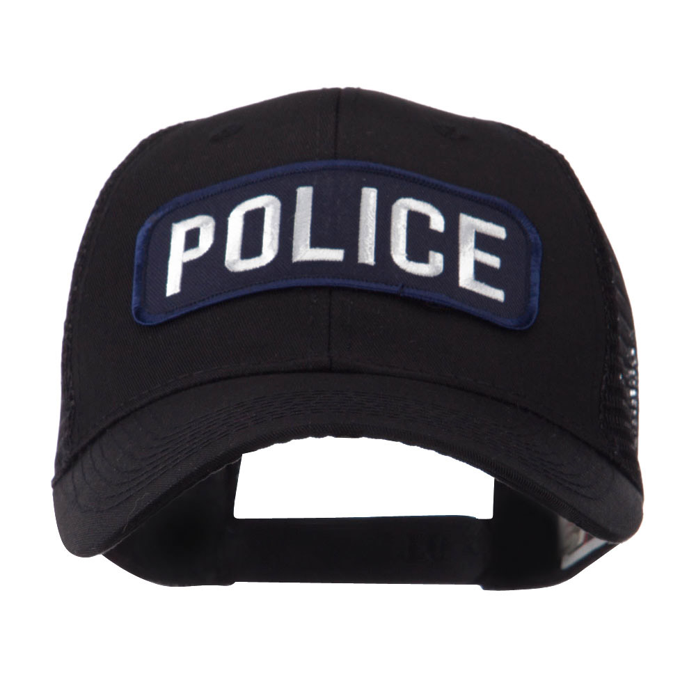 Text Law and Forces Embroidered Patched Mesh Cap - Police