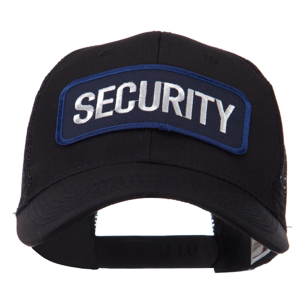 Text Law and Forces Embroidered Patched Mesh Cap - Security