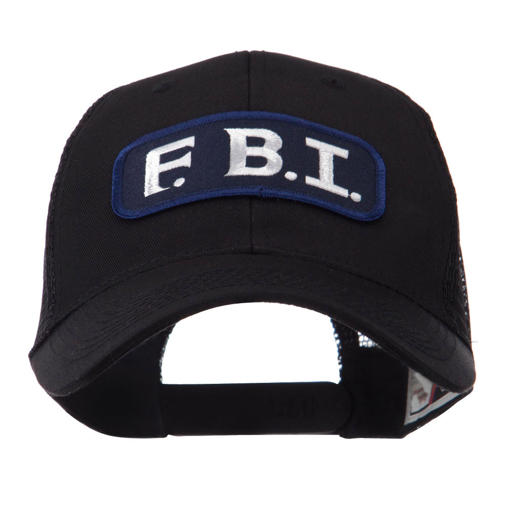 Text Law and Forces Embroidered Patched Mesh Cap - FBI