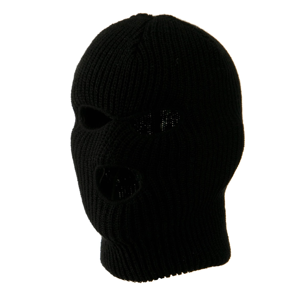 Youth Three Hole Face Mask - Black - Hats and Caps Online Shop - Hip Head Gear