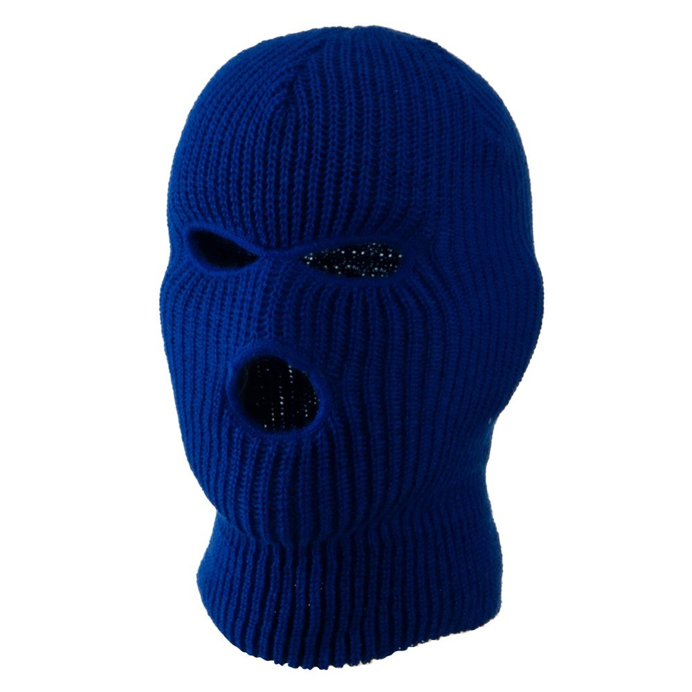 Youth Three Hole Face Mask - Royal - Hats and Caps Online Shop - Hip Head Gear