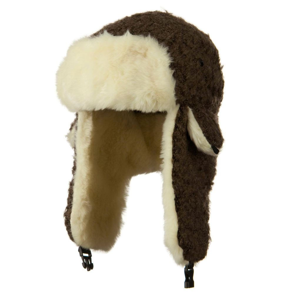Thick Hair Trooper Hat - Brown - Hats and Caps Online Shop - Hip Head Gear