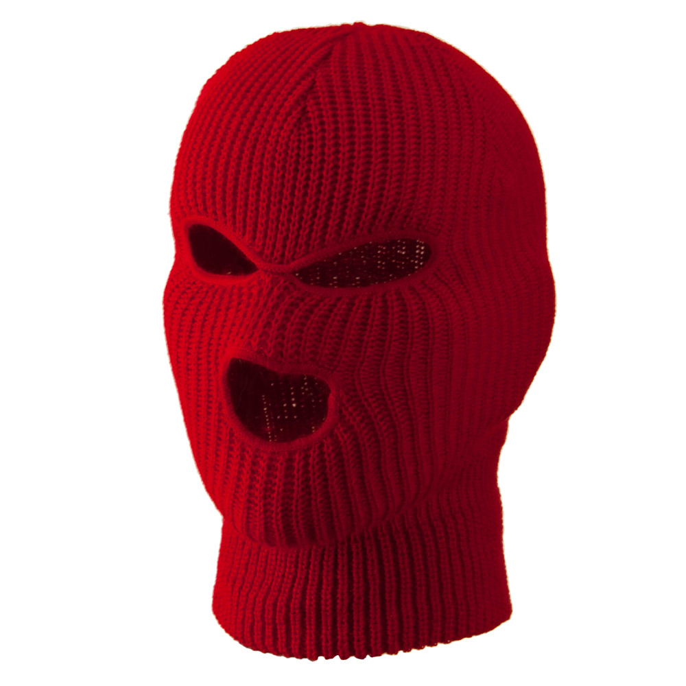 Youth Three Hole Face Mask - Red - Hats and Caps Online Shop - Hip Head Gear