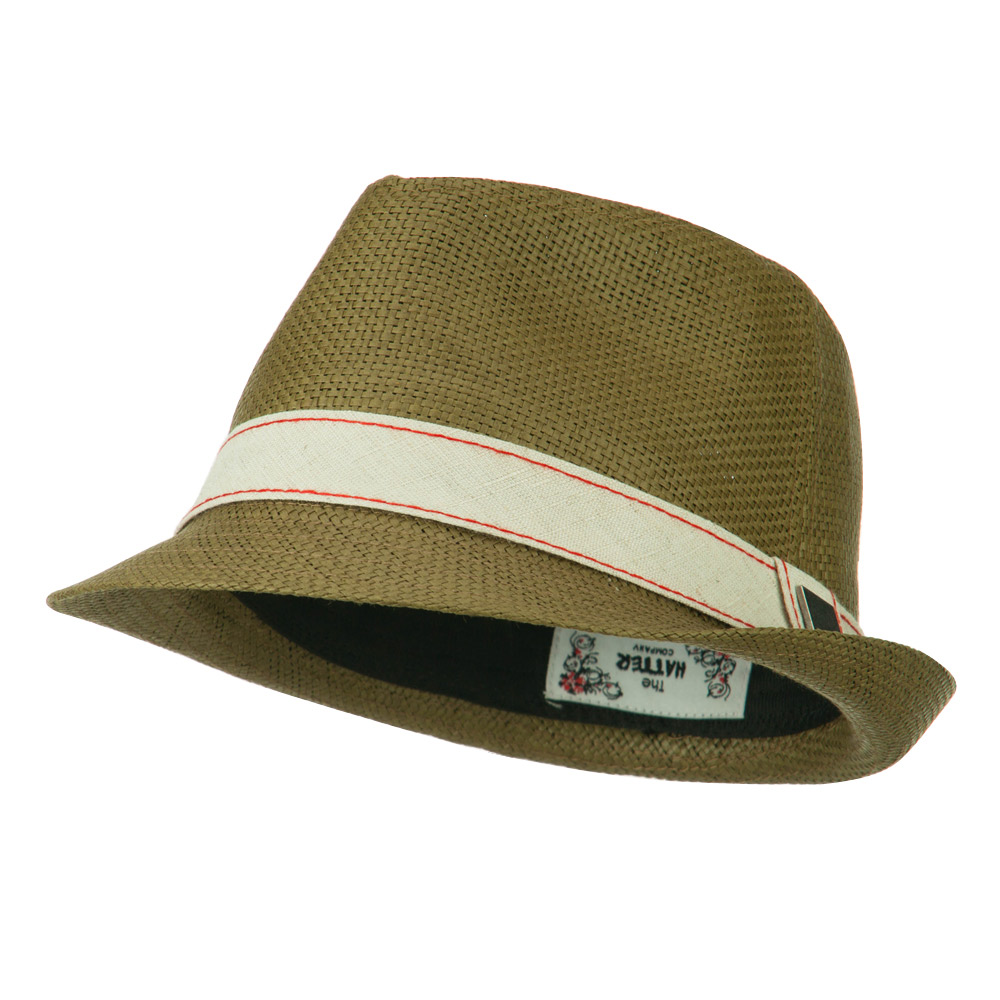 Jute Band Fedora - Brown - Hats and Caps Online Shop - Hip Head Gear