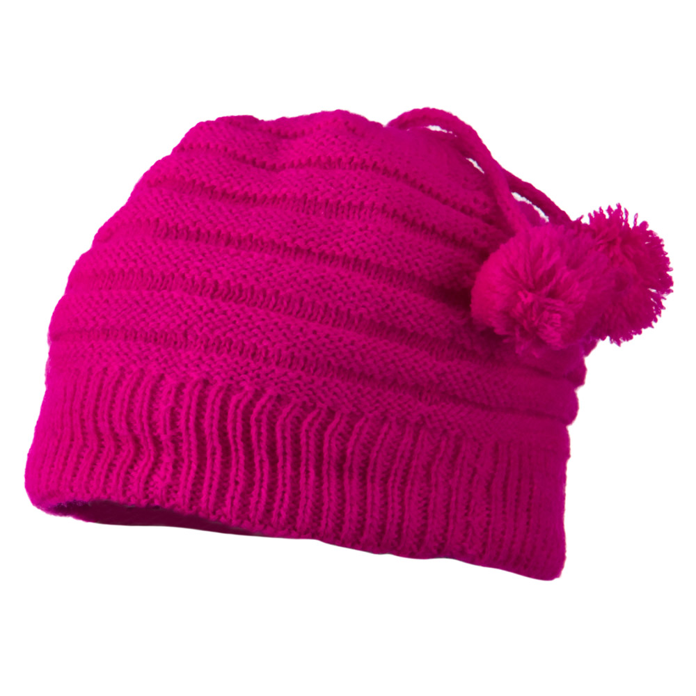 Tassel Knit Hat for Infant - Hot Pink - Hats and Caps Online Shop - Hip Head Gear