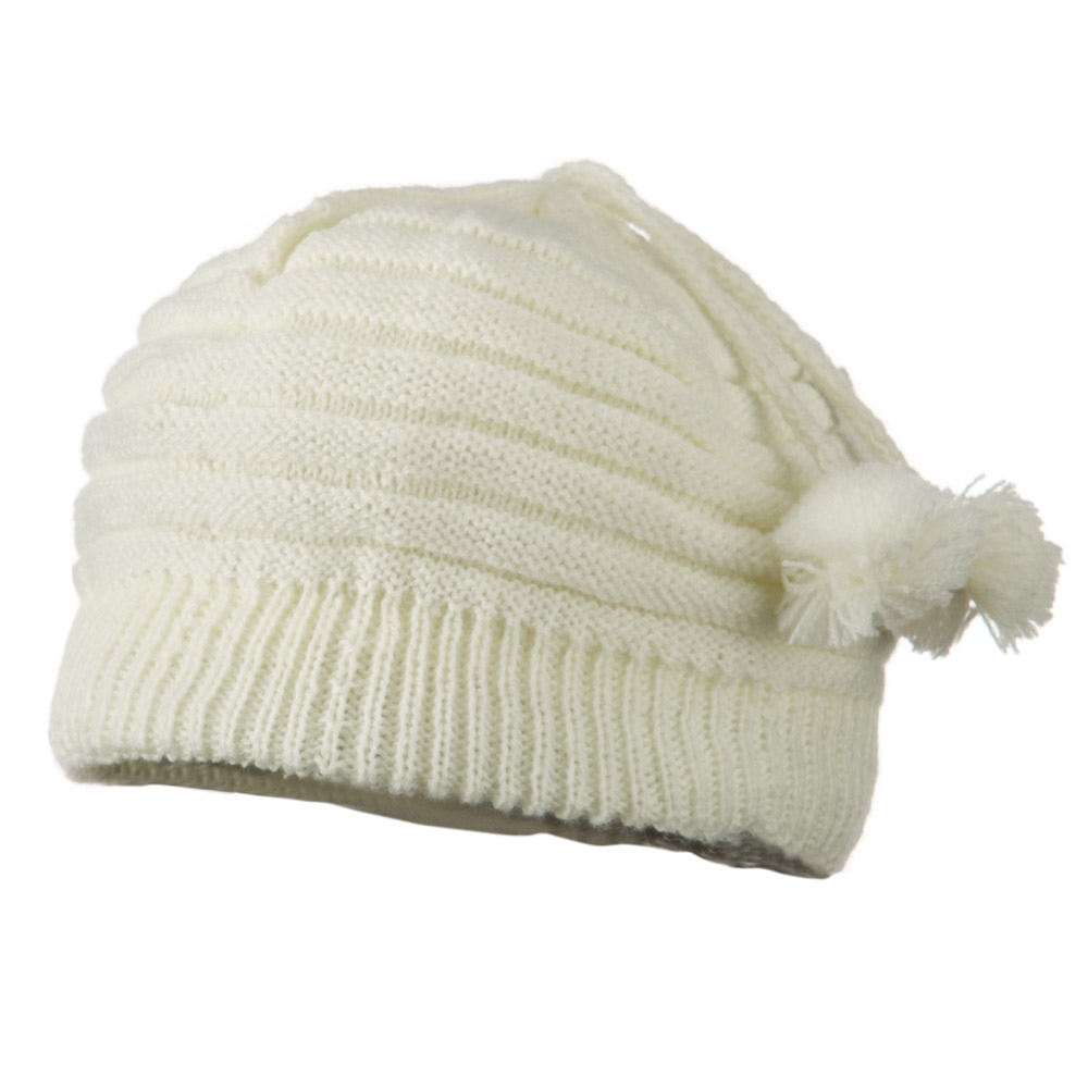 Tassel Knit Hat for Infant - White - Hats and Caps Online Shop - Hip Head Gear