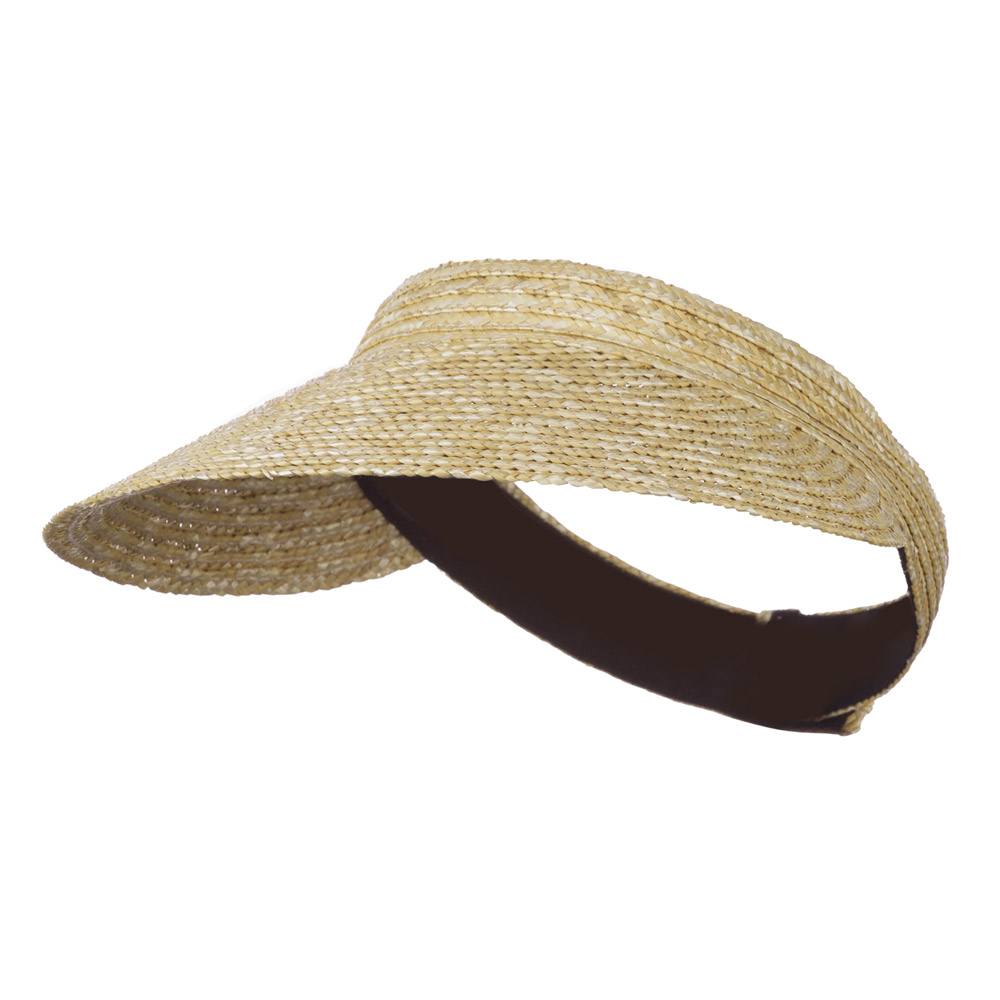 Wheat Straw Braid Terry Lining Visor - Natural - Hats and Caps Online Shop - Hip Head Gear