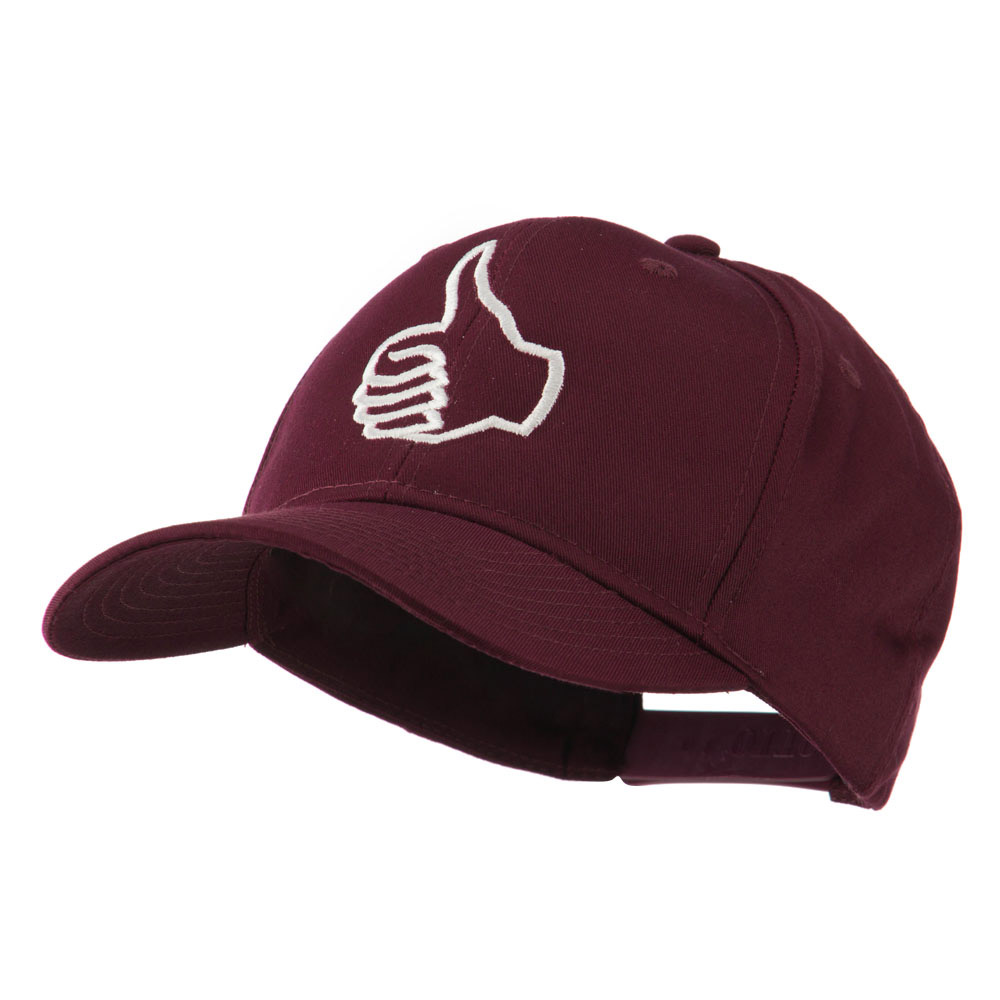 Facebook Thumbs Up Embroidered Cap - Maroon - Hats and Caps Online Shop - Hip Head Gear