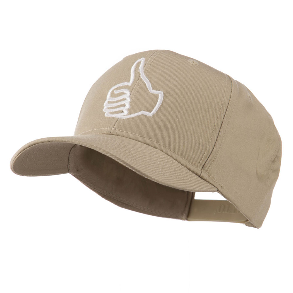 Facebook Thumbs Up Embroidered Cap - Khaki - Hats and Caps Online Shop - Hip Head Gear