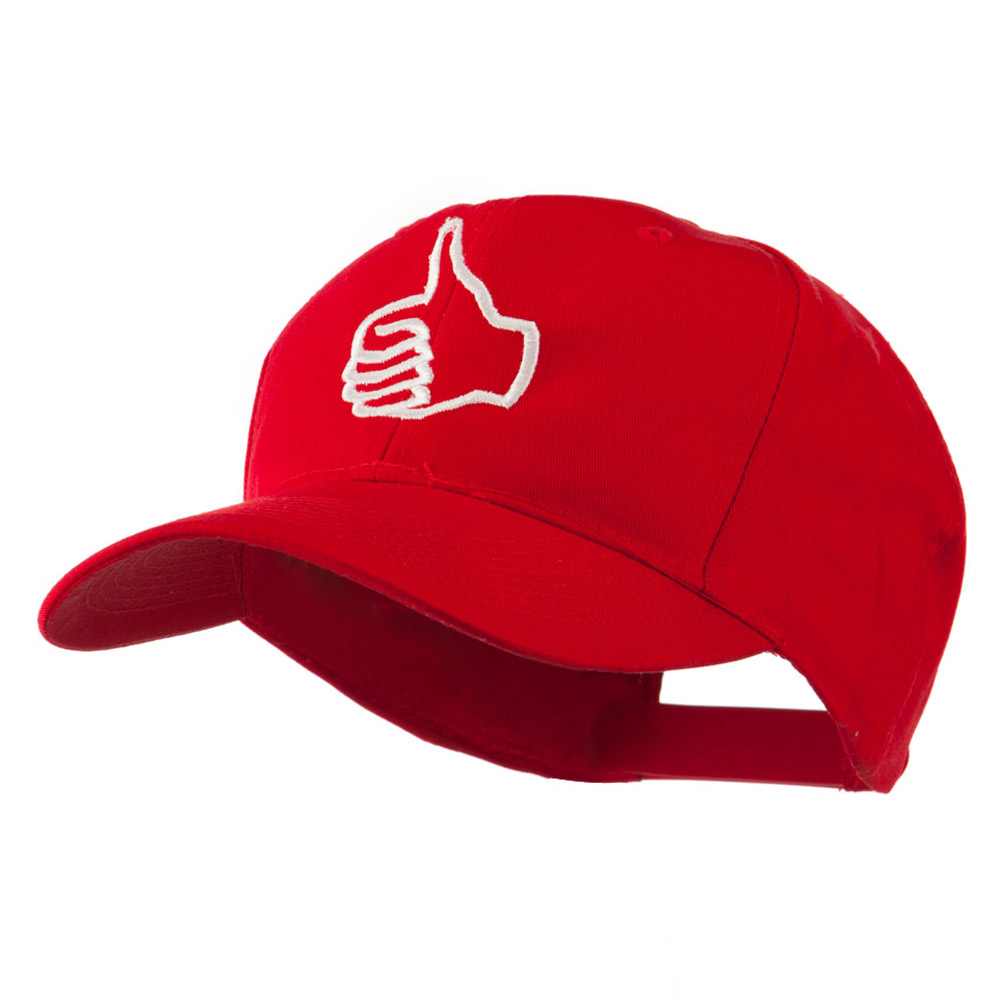 Facebook Thumbs Up Embroidered Cap - Red - Hats and Caps Online Shop - Hip Head Gear