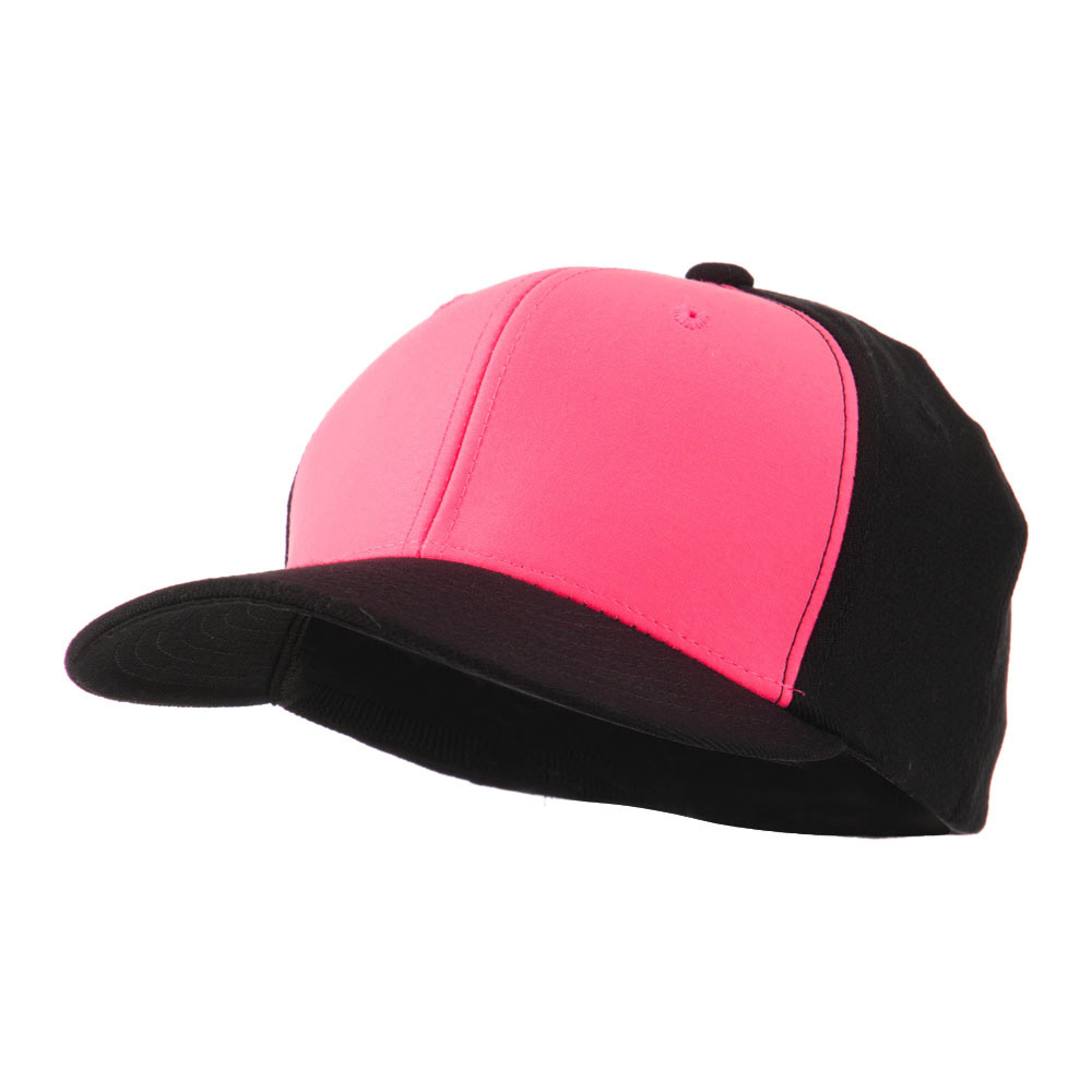 2 Tone Neon Flat Bill Flex Caps - Pink - Hats and Caps Online Shop - Hip Head Gear