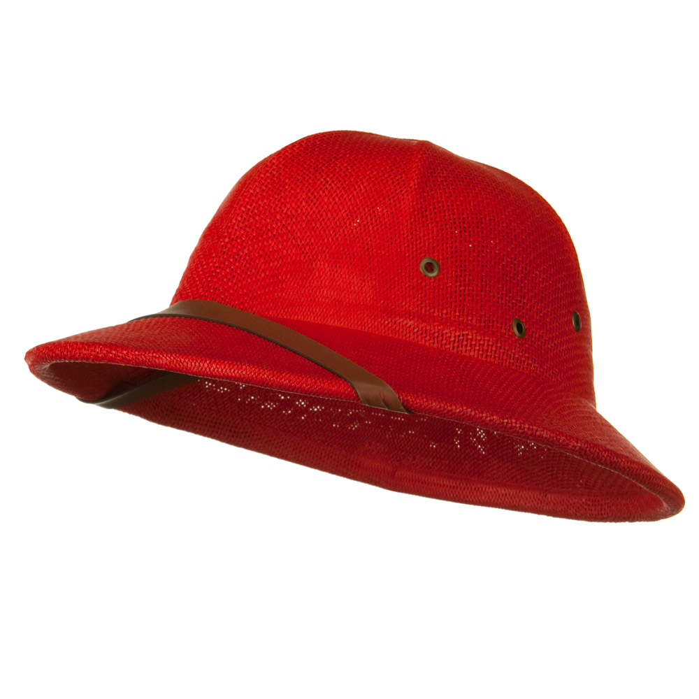 Twist Toyo Pith Helmet - Red - Hats and Caps Online Shop - Hip Head Gear