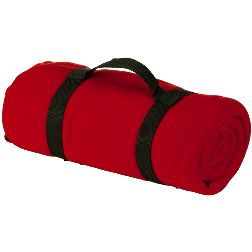 Travel Panda Fleece Blanket - Red