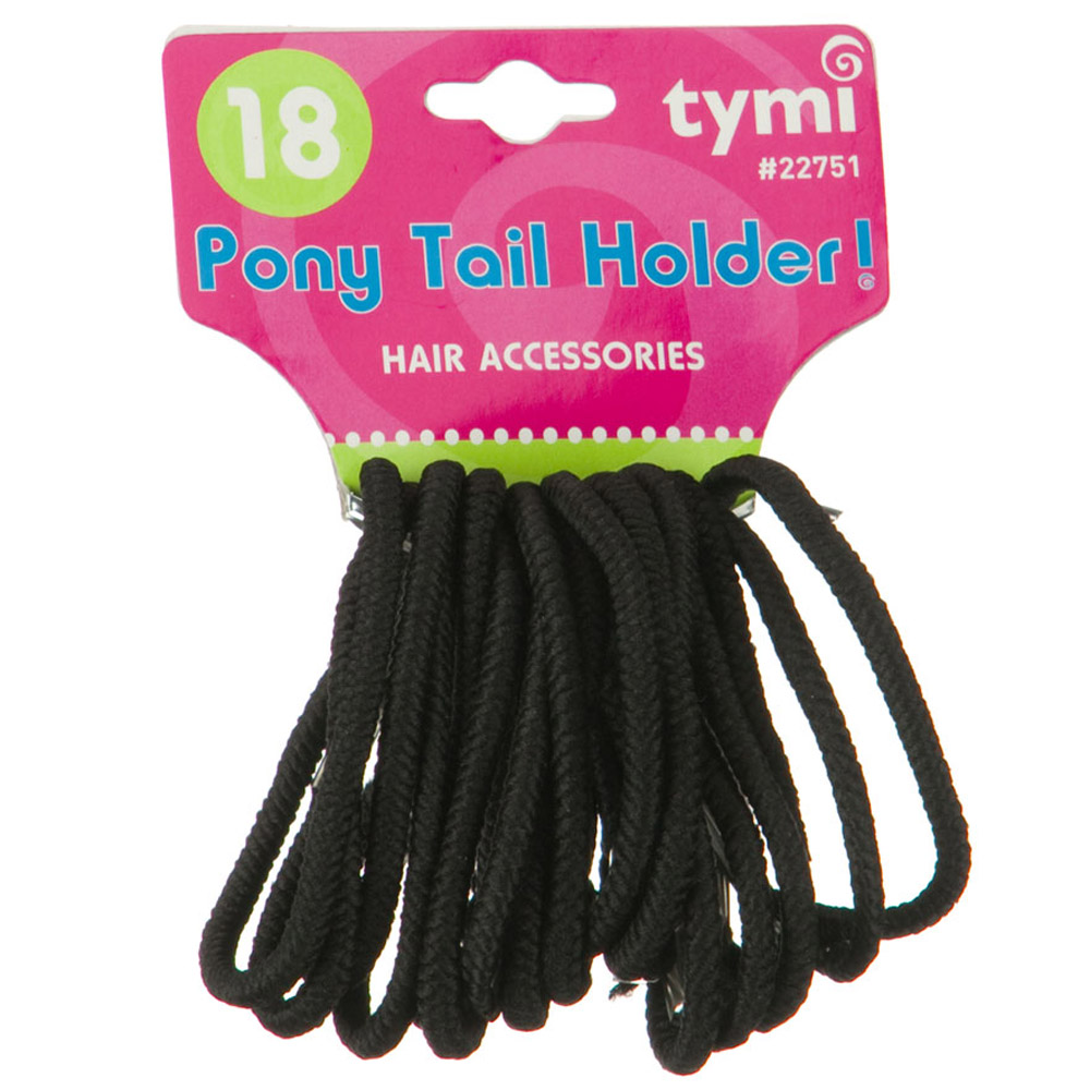 Tymi Pony Tail Holder- Black - Hats and Caps Online Shop - Hip Head Gear