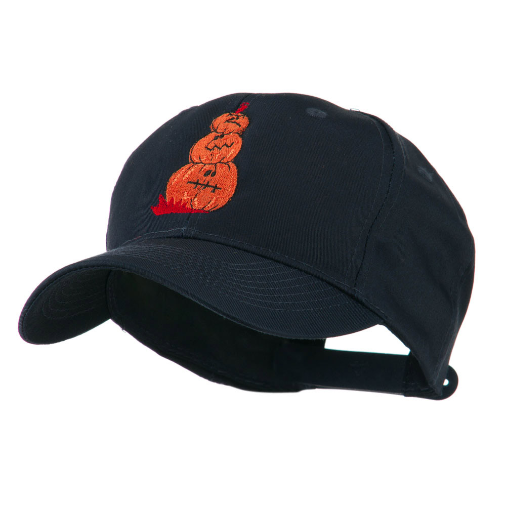 Three Pumpkins with Funny Smile Embroidered Cap - Navy - Hats and Caps Online Shop - Hip Head Gear