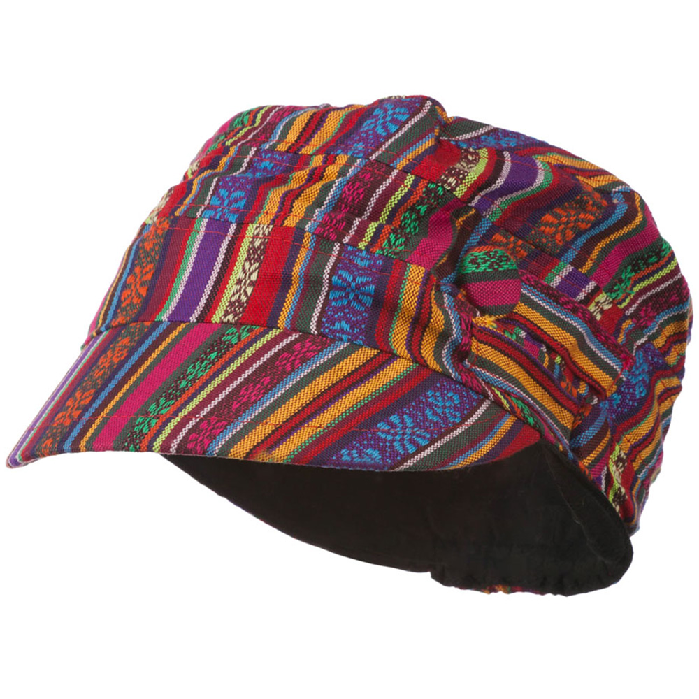 Women's Small Tribal Military Hat - Small Tribal Print - Hats and Caps Online Shop - Hip Head Gear