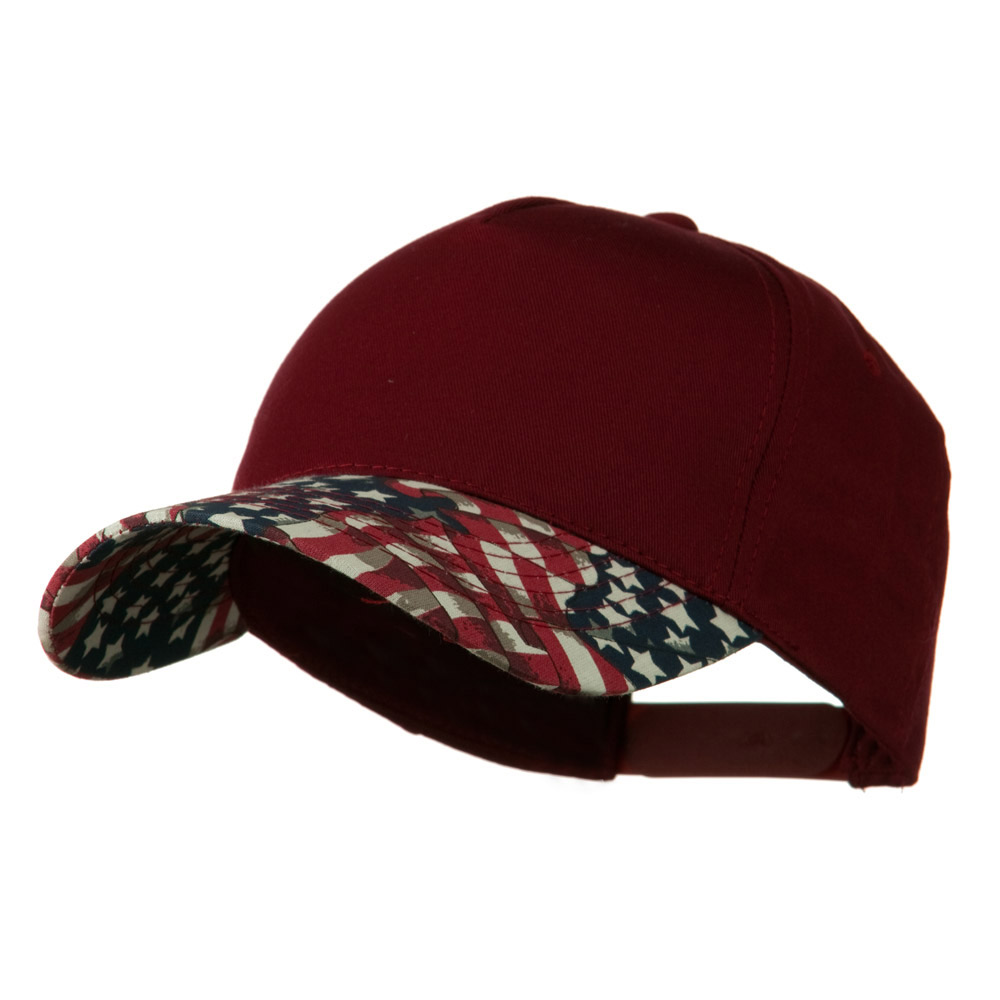5 Panel Cotton Twill Stars Cap - Cardinal - Hats and Caps Online Shop - Hip Head Gear