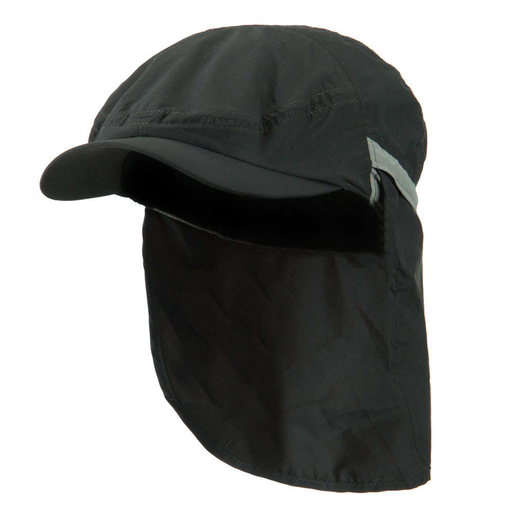 UV 50+ Talson Zippered Back Flap Ivy Cap - Charcoal - Hats and Caps Online Shop - Hip Head Gear