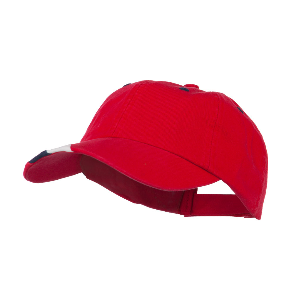 Low Profile Brushed Cotton Cap - Red - Hats and Caps Online Shop - Hip Head Gear