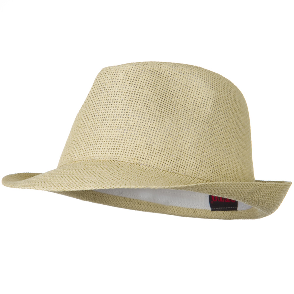 Twisted Toyo Straw Fedora Hat - Natural - Hats and Caps Online Shop - Hip Head Gear