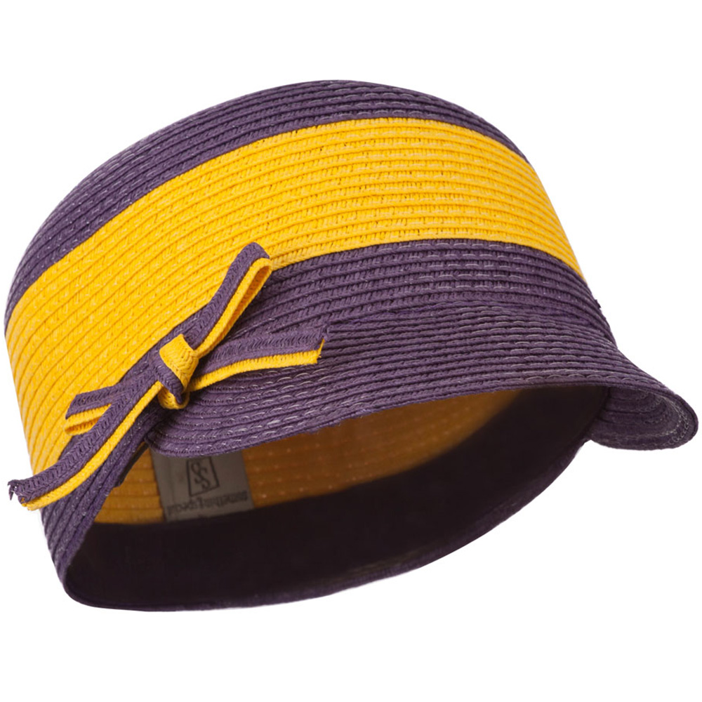 PP Braid Cap with Two Tone Stripes - Yellow Purple - Hats and Caps Online Shop - Hip Head Gear