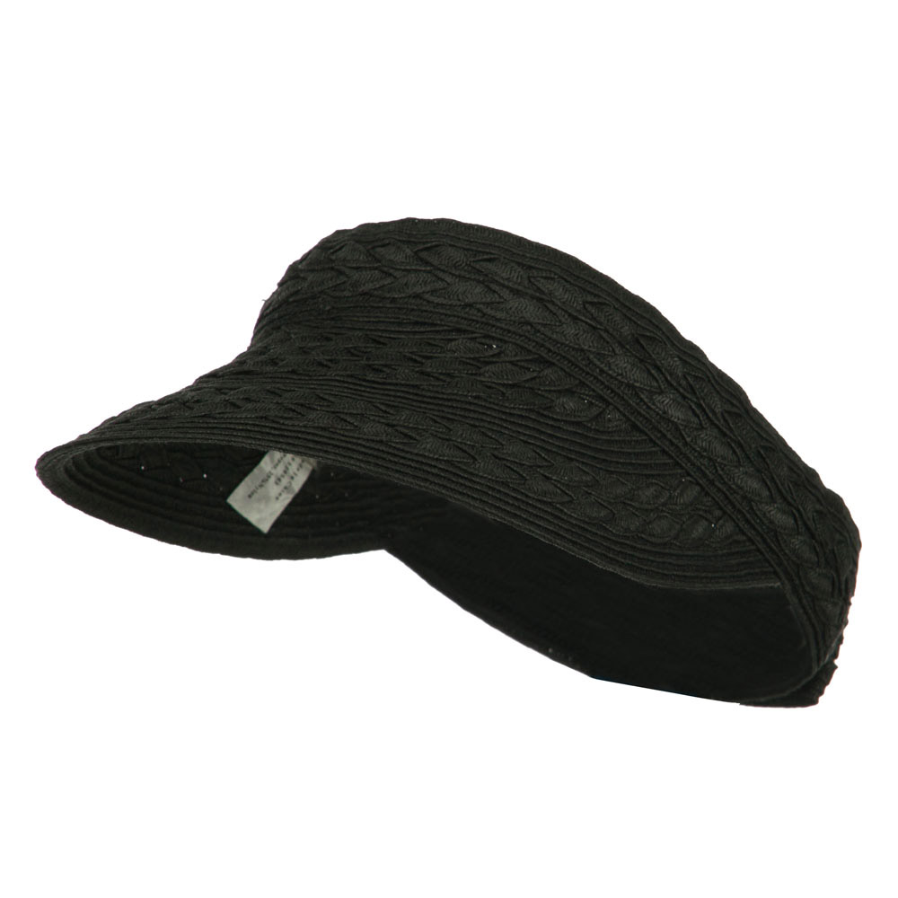 Toyo UPF 50+ Braided Designed Visor - Black - Hats and Caps Online Shop - Hip Head Gear