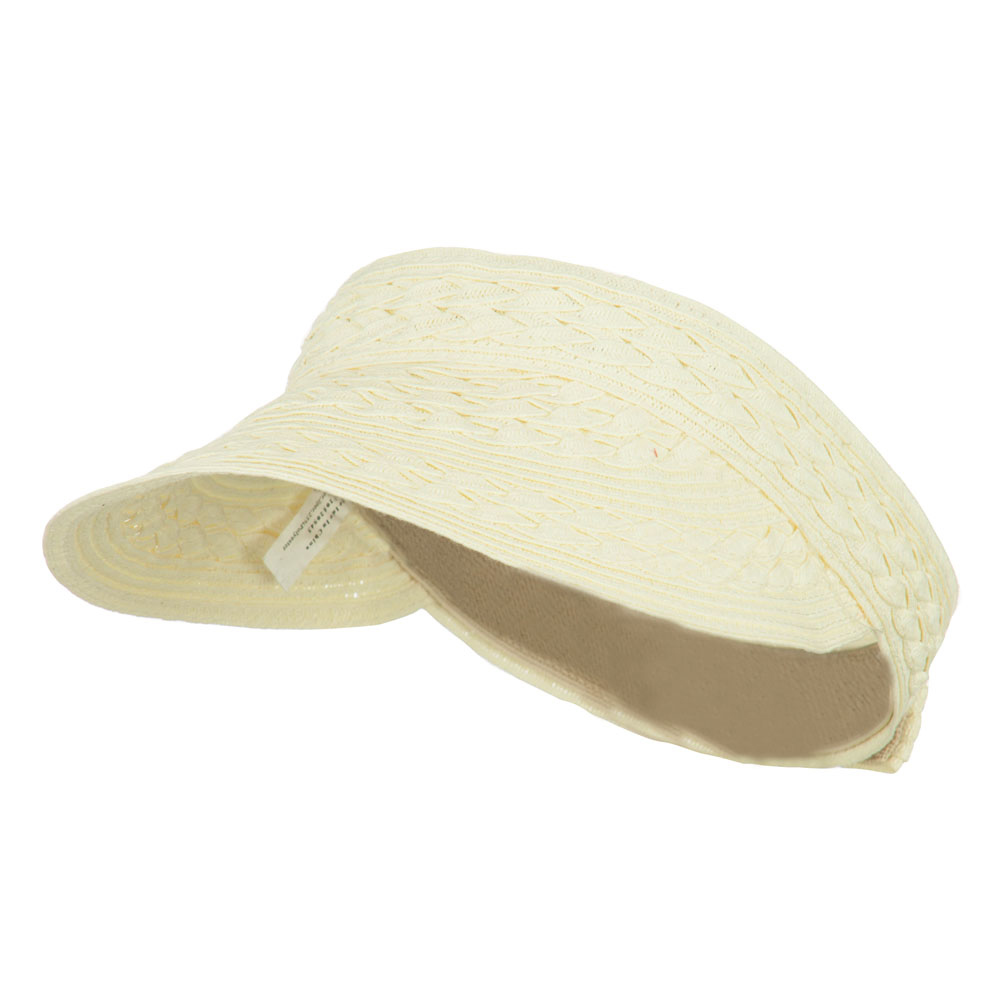 Toyo UPF 50+ Braided Designed Visor - Ivory - Hats and Caps Online Shop - Hip Head Gear