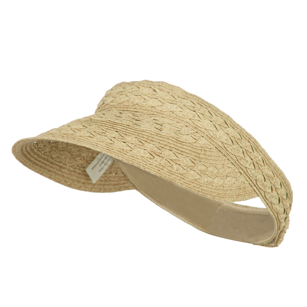 Toyo UPF 50+ Braided Designed Visor - Tan Tweed - Hats and Caps Online Shop - Hip Head Gear