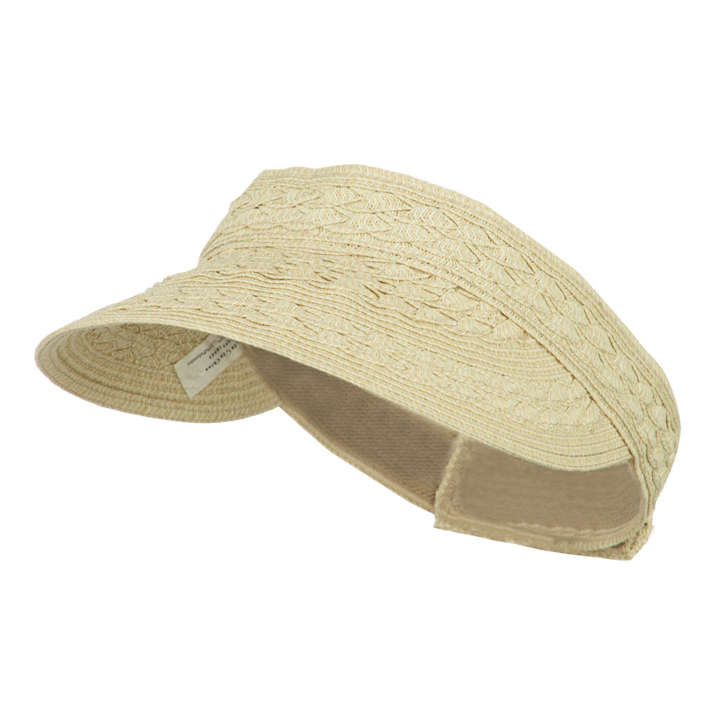 Toyo UPF 50+ Braided Designed Visor - Wheat - Hats and Caps Online Shop - Hip Head Gear