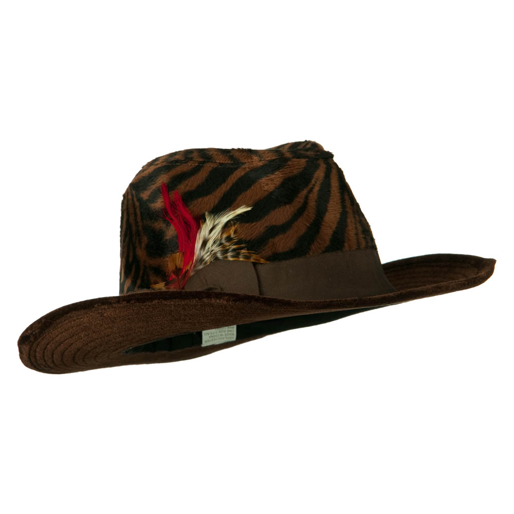 Two Tone Woman's Cowboy Feather Hat -  Zebra - Hats and Caps Online Shop - Hip Head Gear