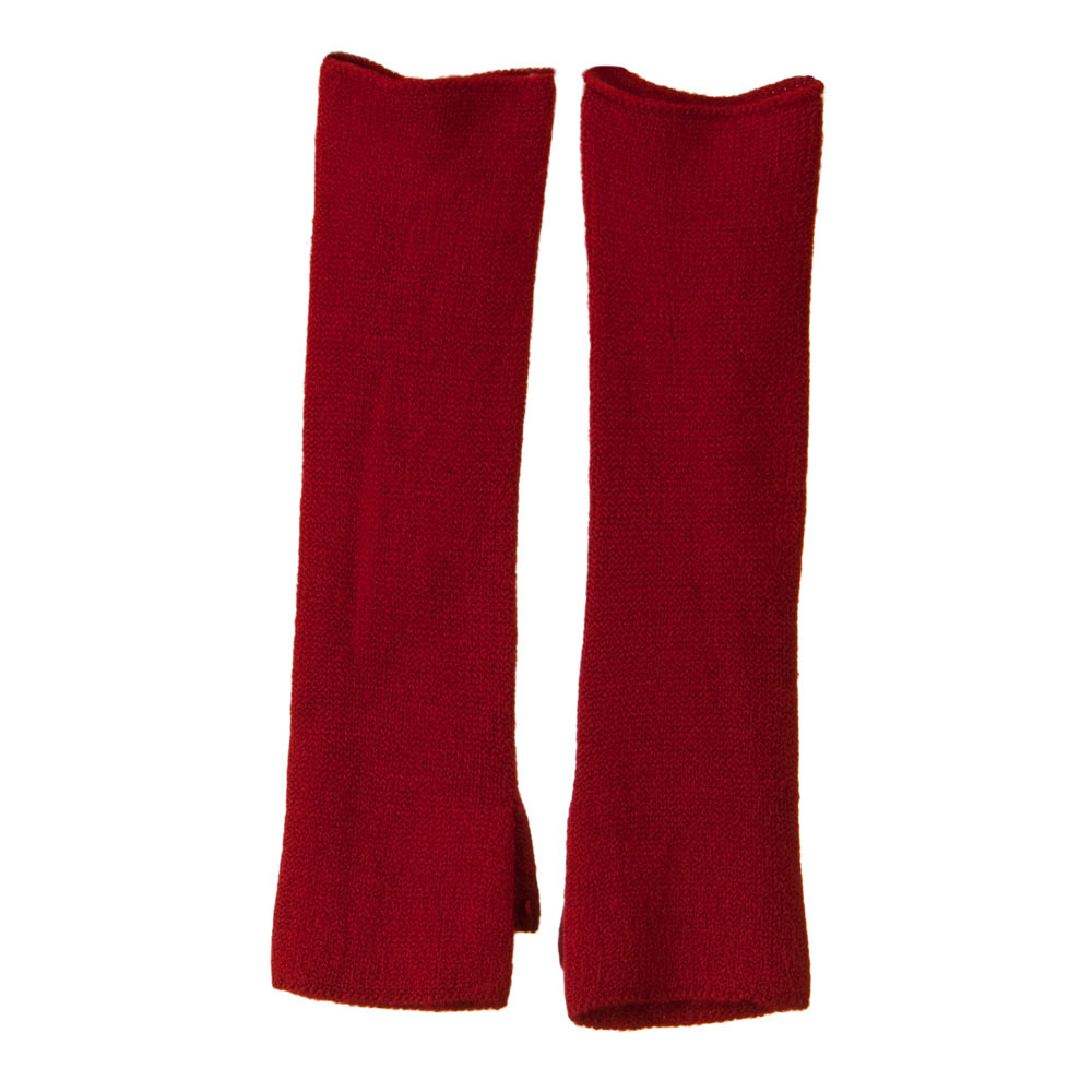Thumb Whole Long Arm Warmer - Red