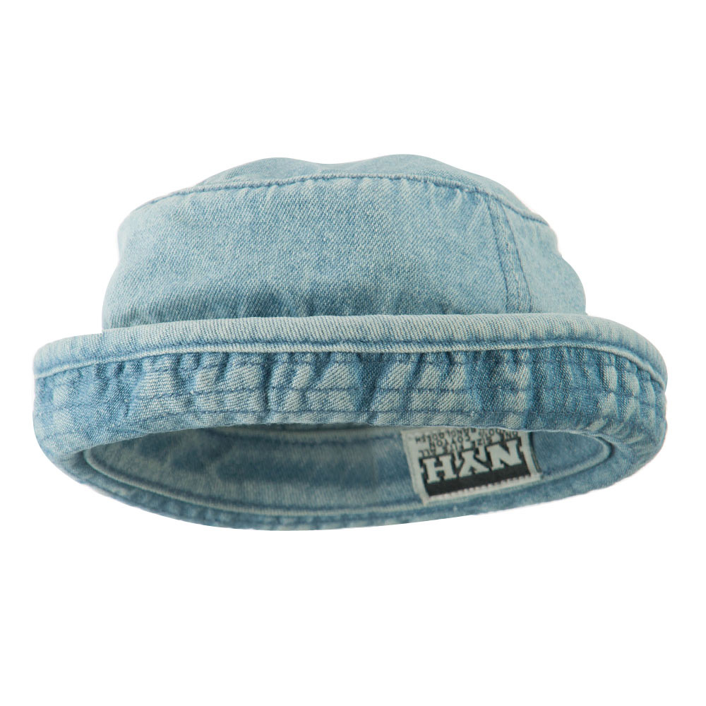 Baby's Roll Up Bucket Hat - Light Blue - Hats and Caps Online Shop - Hip Head Gear