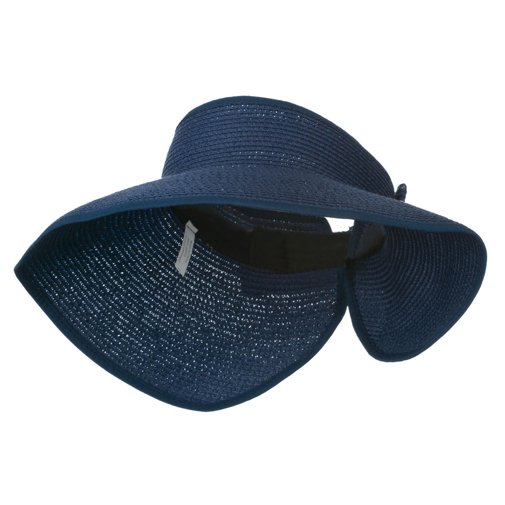 UPF 50+ Bow Closure Roll Up Visor - Navy - Hats and Caps Online Shop - Hip Head Gear