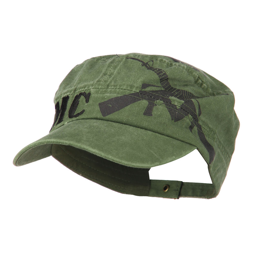 USMC Flat Top Military Jeep Style Adjustable Cap - Green - Hats and Caps Online Shop - Hip Head Gear