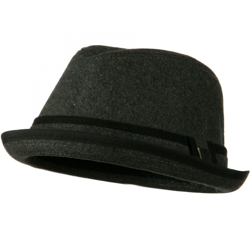 Upbrim Stingy Fedora Hat with Matching Band - Grey - Hats and Caps Online Shop - Hip Head Gear