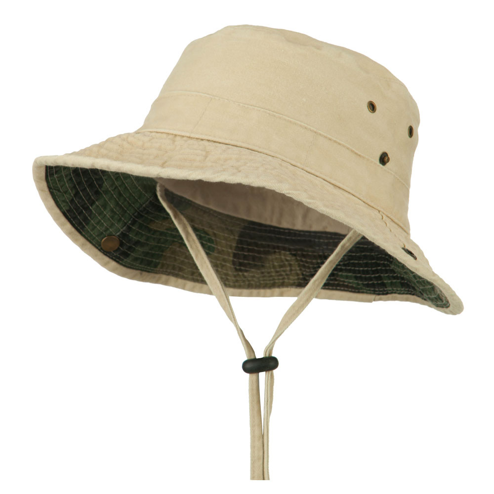 UPF 50+ Kid's Cotton Casual Boonie Hat - Sand - Hats and Caps Online Shop - Hip Head Gear