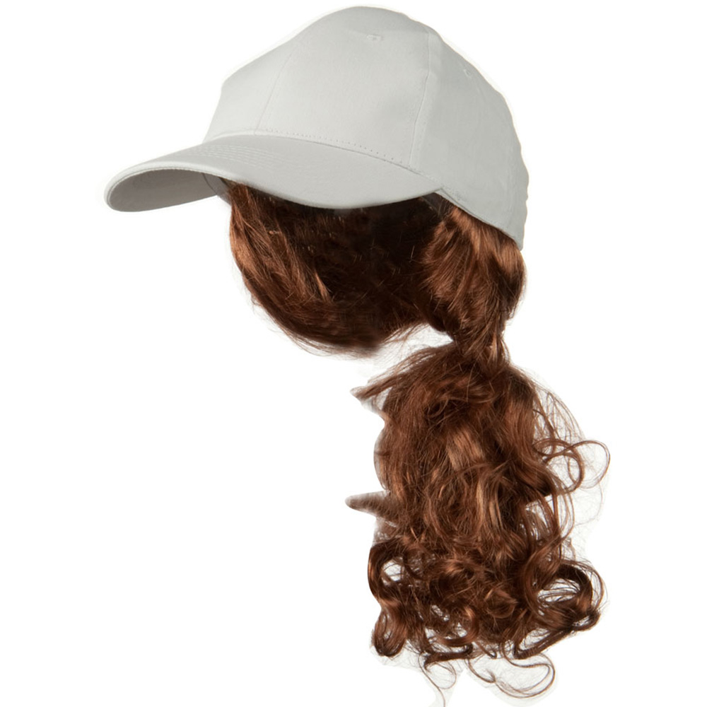 Auburn Pony Tail Twill Cap - White - Hats and Caps Online Shop - Hip Head Gear