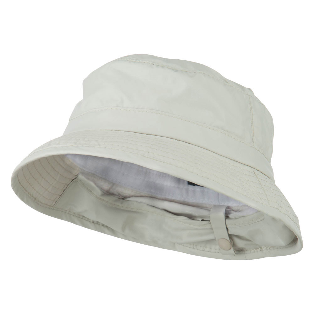UPF 50+ Sun Block Bucket Flap Hat - Putty - Hats and Caps Online Shop - Hip Head Gear