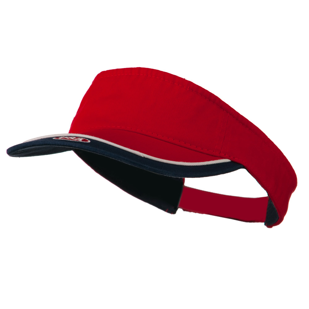 USA Sports Visor - Red Navy - Hats and Caps Online Shop - Hip Head Gear