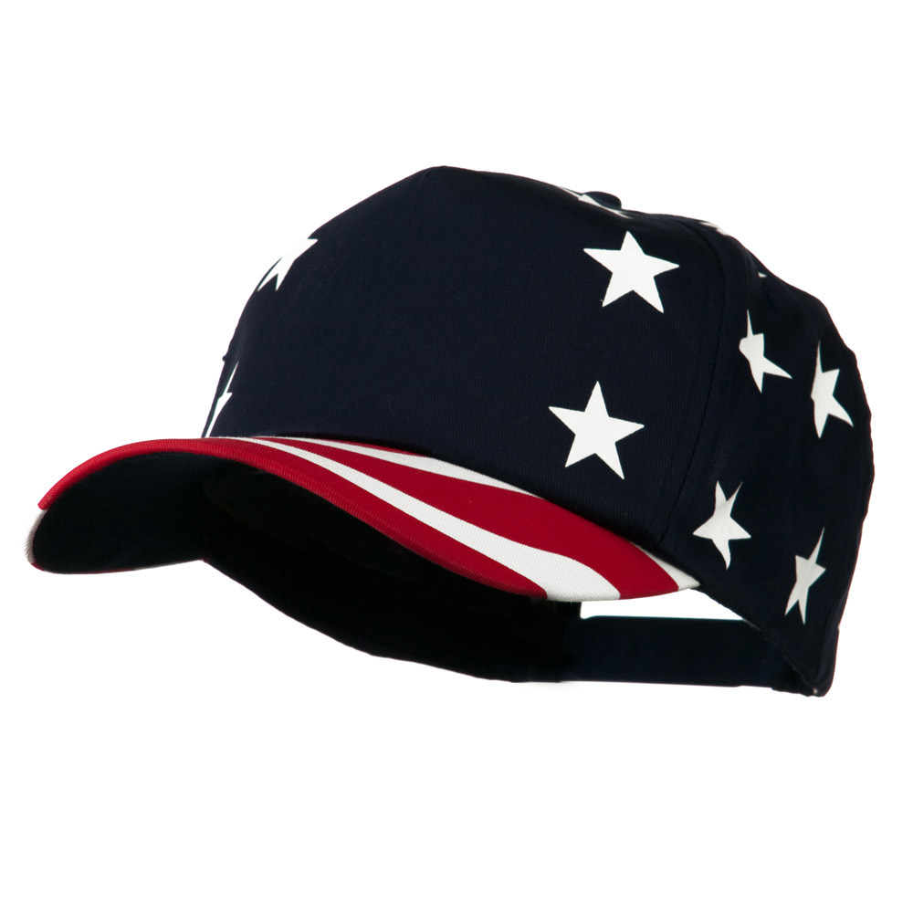 5 Panel USA Star Stripes Pro-Cap - Red Stripe - Hats and Caps Online Shop - Hip Head Gear