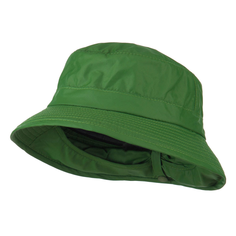 UPF 50+ Sun Block Bucket Flap Hat - Green - Hats and Caps Online Shop - Hip Head Gear