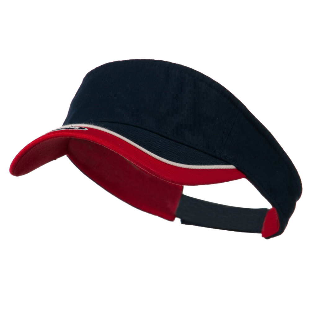 USA Sports Visor - Navy Red - Hats and Caps Online Shop - Hip Head Gear
