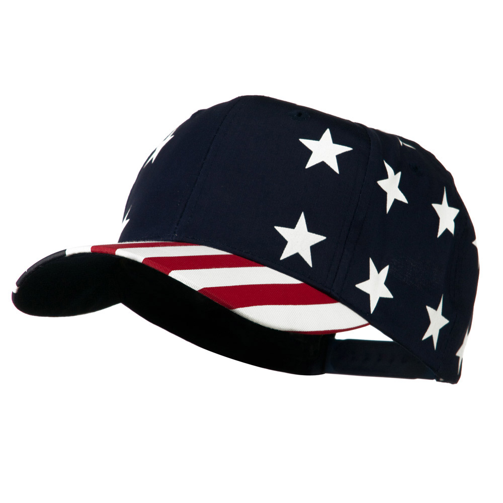 6 Panel USA Star Stripes Pro-Cap - Star Stripe - Hats and Caps Online Shop - Hip Head Gear