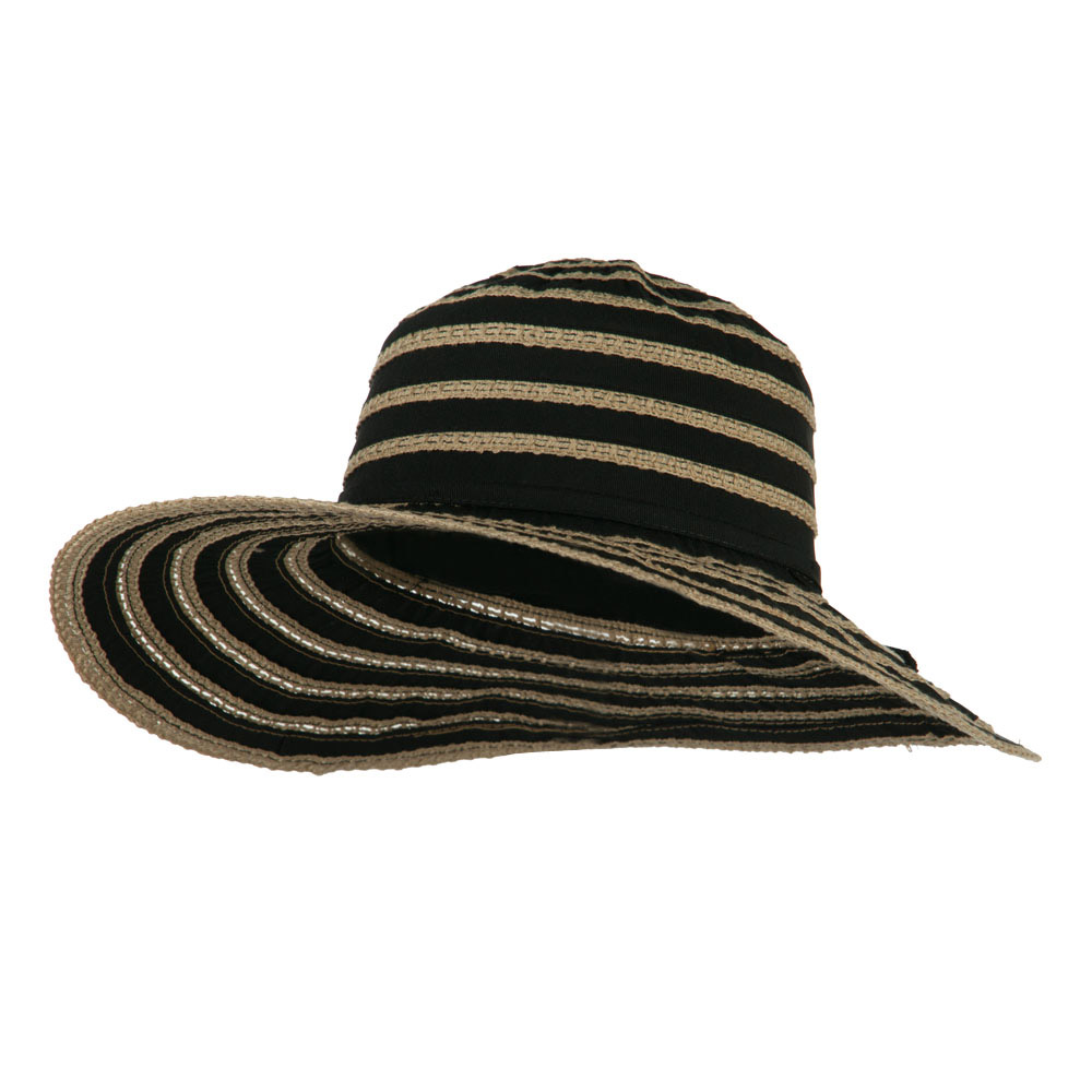 UPF 40+ Toast Striped Crushable Hat - Black - Hats and Caps Online Shop - Hip Head Gear
