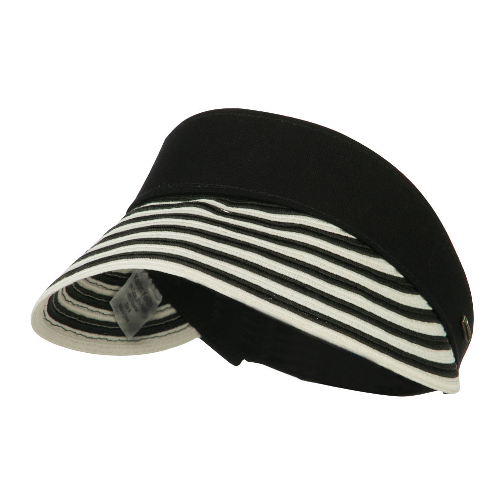 UPF 50+ Toyo Paper Braid Visor - Black - Hats and Caps Online Shop - Hip Head Gear