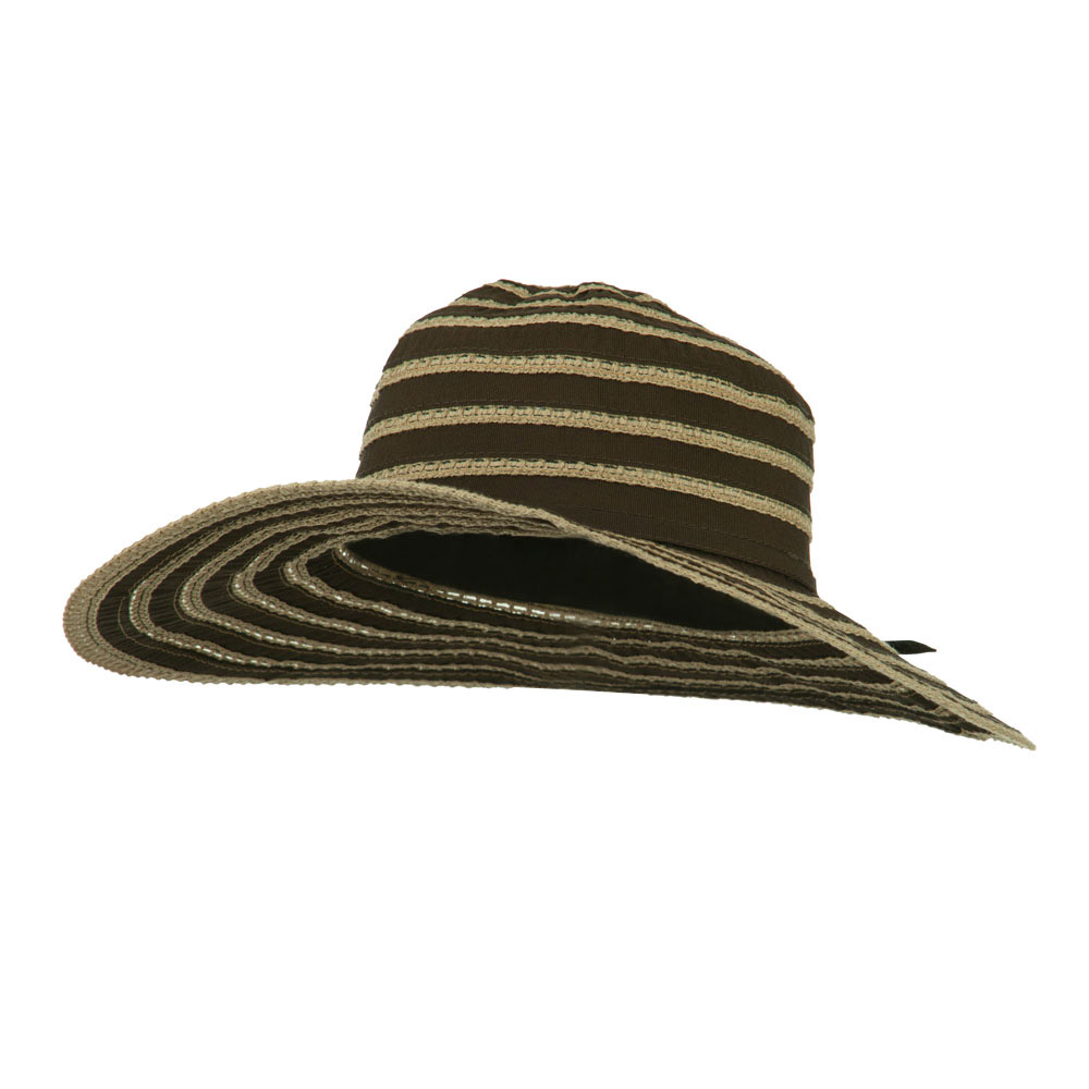 UPF 40+ Toast Striped Crushable Hat - Brown - Hats and Caps Online Shop - Hip Head Gear