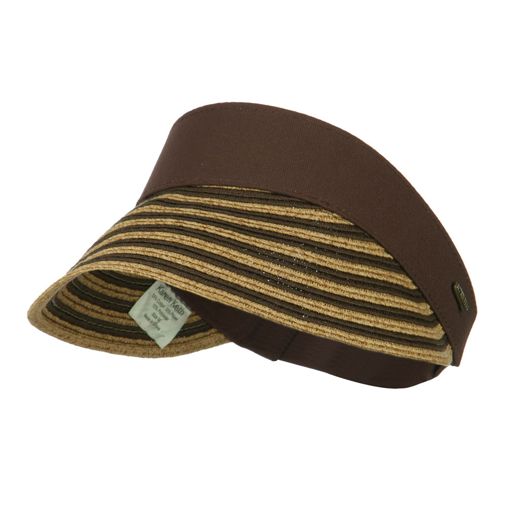 UPF 50+ Toyo Paper Braid Visor - Brown - Hats and Caps Online Shop - Hip Head Gear