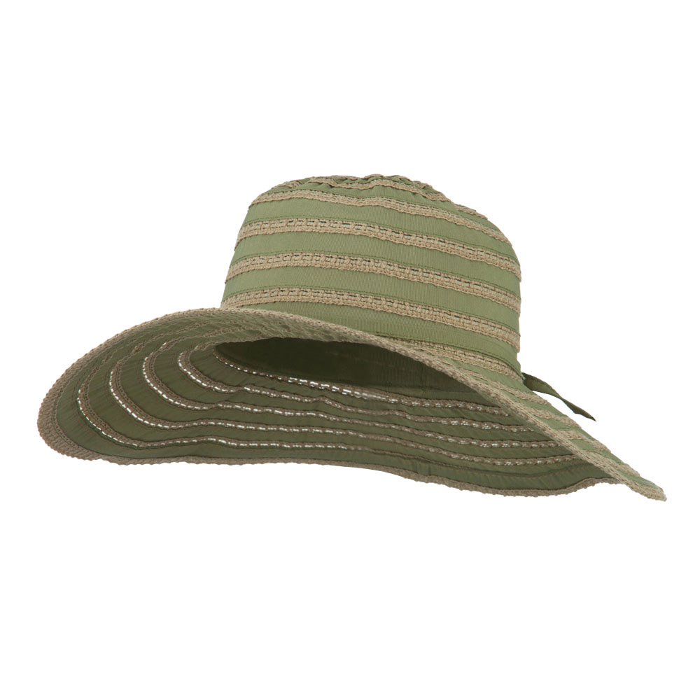 UPF 40+ Toast Striped Crushable Hat - Sage - Hats and Caps Online Shop - Hip Head Gear